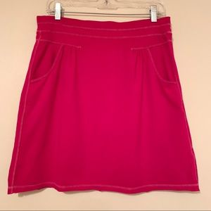 Athleta Pink Stretch Skirt w/Pockets Elastic Waist